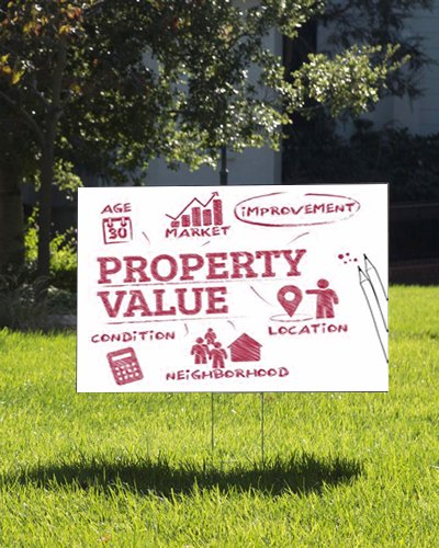 property value indicators sign