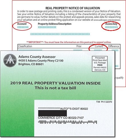 property tax value notification